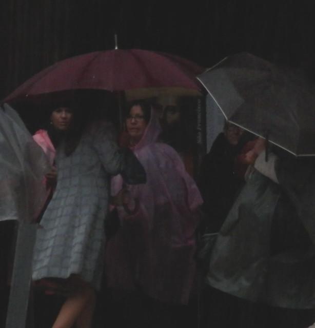 Refugiados de la lluvia fuerte