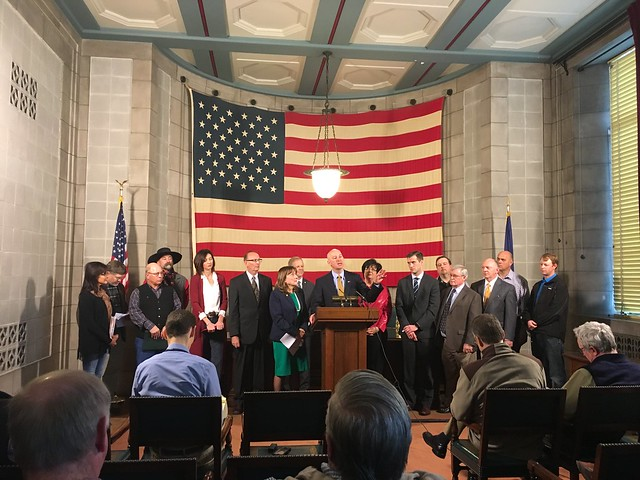 Gov. Ricketts, Sen. Brasch, and Ag Producers Call for Long-Term View on Property Tax Reform - 2/6/2017