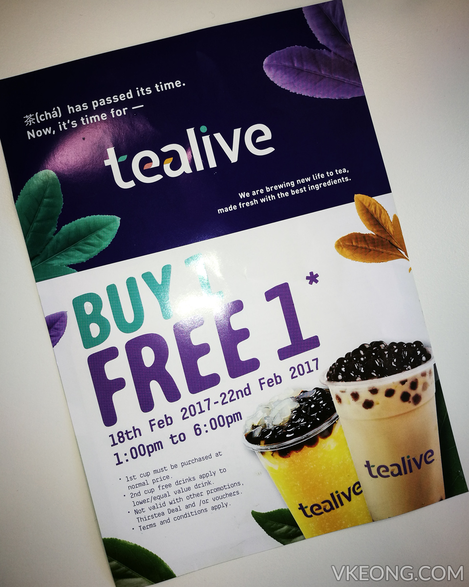 tealive buy 1 free 1 promotion