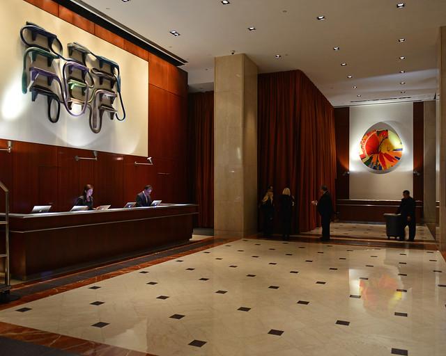 Recepción del hotel Le Meridien en Nueva York