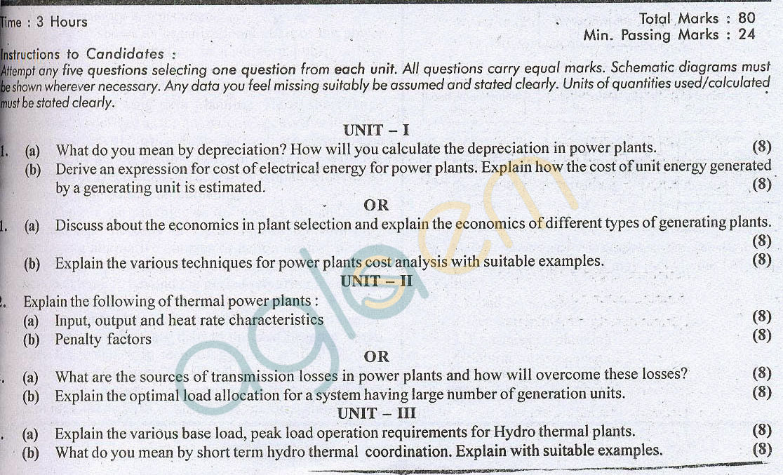 RTU: Question Papers 2014 – 7 Semester - EE - 7E4178