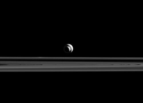 VCSE - Mai kép - Enceladus és Tethys - NASA, Cassini