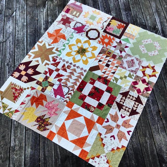Random Sampler - completed quilt top