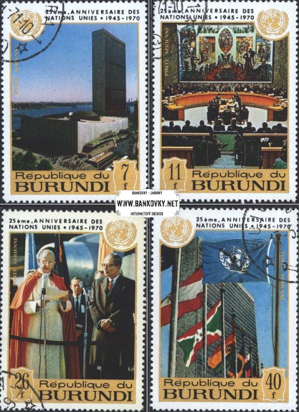 *Známky Burundi 1970 Výročie OSN, razítkovaná séria