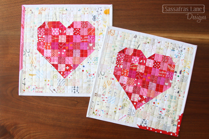 Free Patchwork Heart Mini Quilt Pattern