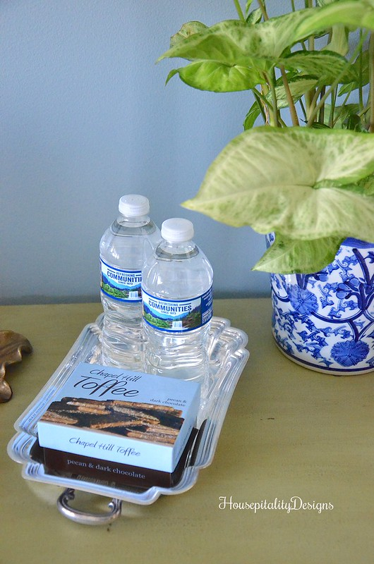 Guest Room refreshment tray-Housepitality Designs
