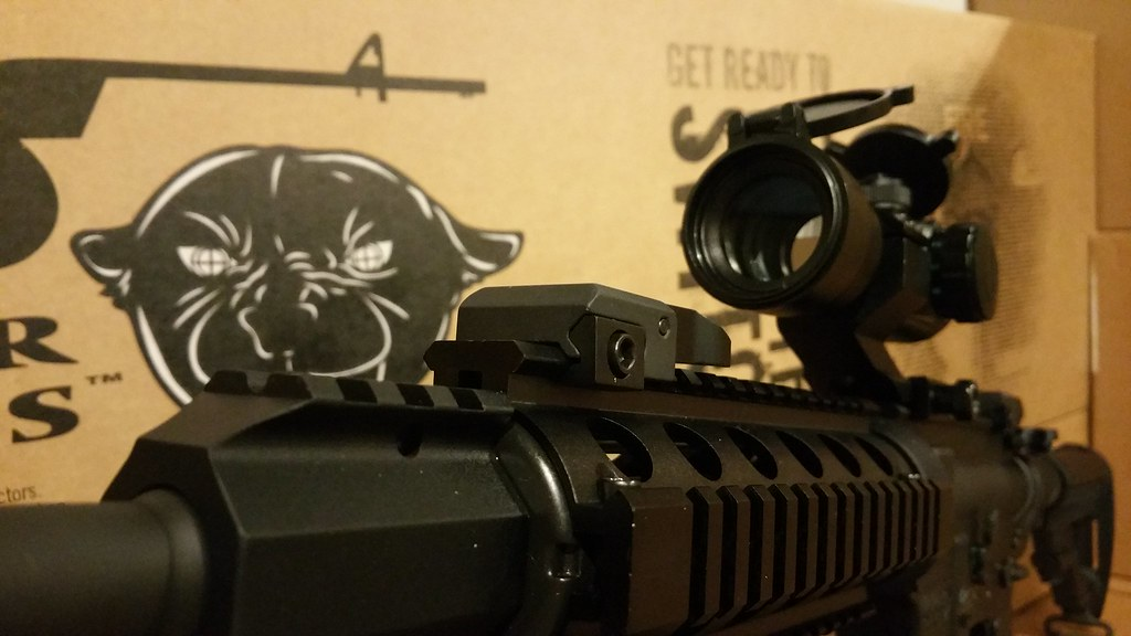 DPMS Oracle Quad Rail Bi Pod Tacfire Red Dot