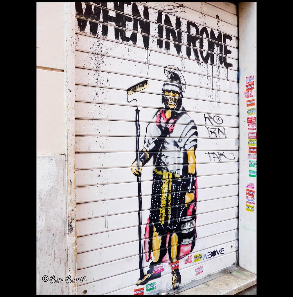 San lorenzo street art when in rome by above