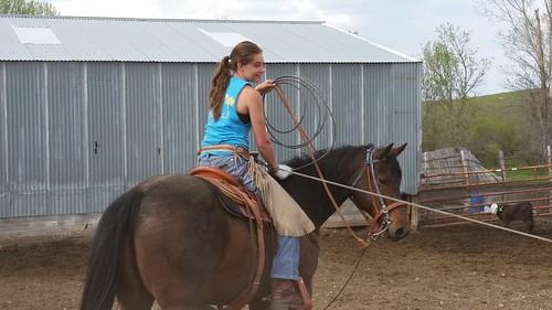Morgan Ziesch on a horse