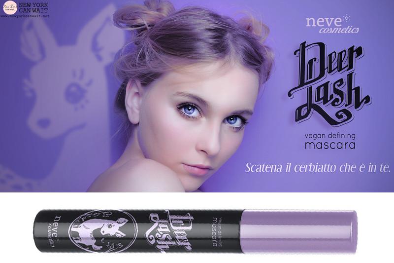 Neve Cosmetics: DeerLash, il nuovo mascara vegan.