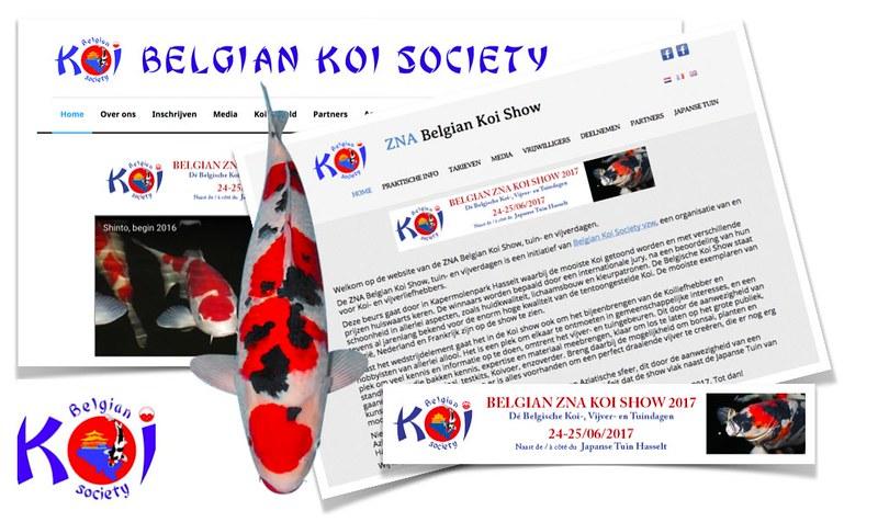 nieuwe website voor belgian koi show 2017