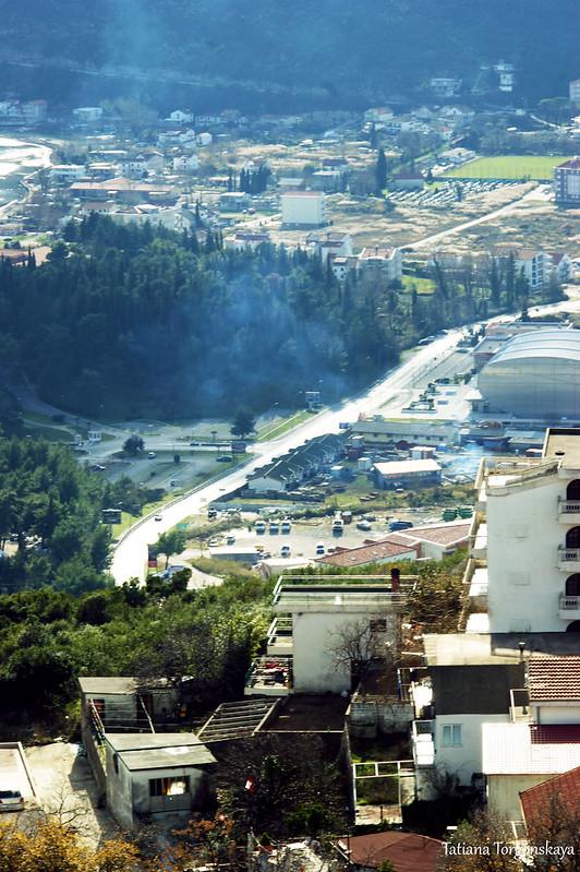 Фрагмент Адриатической магистрали в Игало