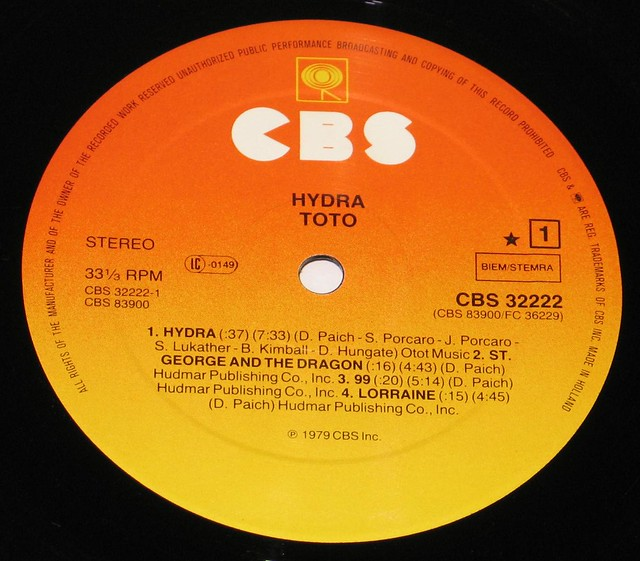"Toto Hydra 12"" vinyl LP"