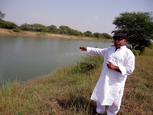 Raghunath Singh showing his Tank