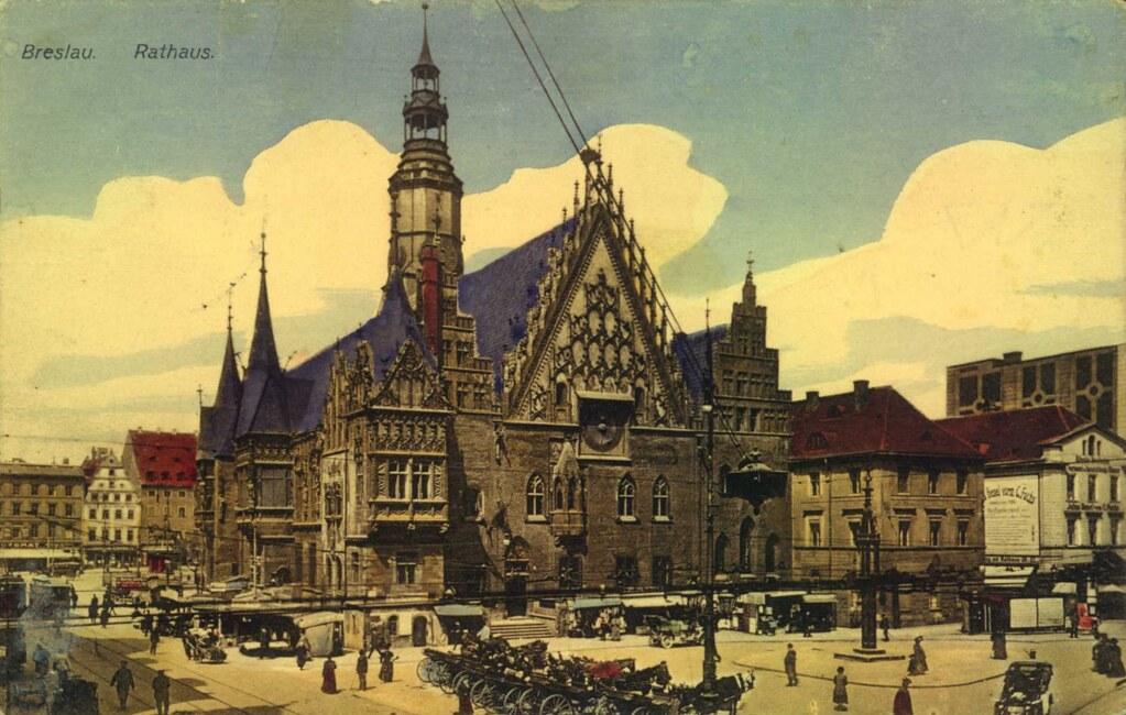 Hotel de ville gothique de Wroclaw, l'un des plus beaux d'Europe centrale.