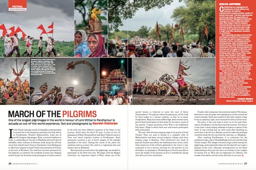 My first article on Pandharpur Wari in Maharashtra Ahead, the official magazine of the Directorate General of Information and Public Relations, Government of Maharashtra | by SaurabhChatterjee