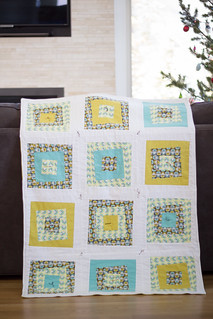 Forest friends flannel baby quilt pt. 2 | by frommartawithlove