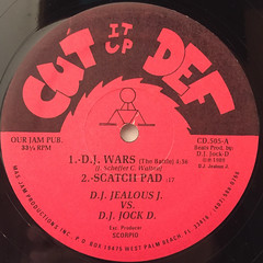 D.J. JEALOUS J. & D.J. JOCK D.:D.J. WARS(LABEL SIDE-A)