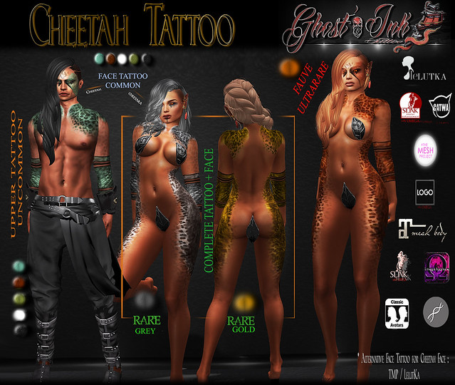 Ghost'Ink :: Cheetah :: ( Gacha Keys )