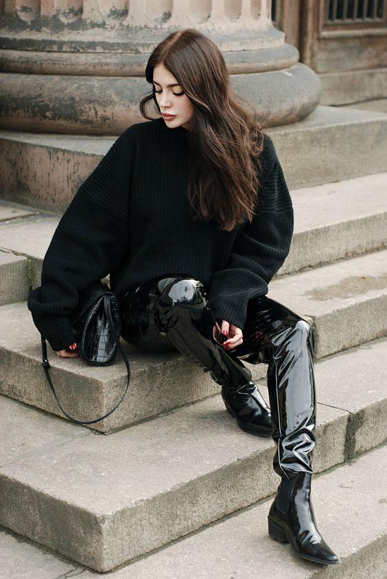 Pvc Vinyl Jeans Trousers Blog Fashion