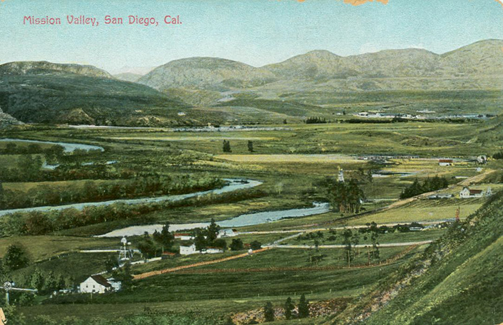 mission valley bucolic post card 1907
