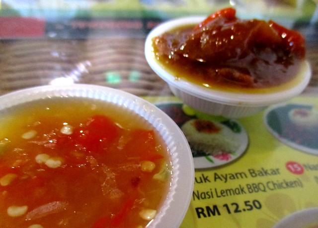 Ayam Penyet Ria chili dips