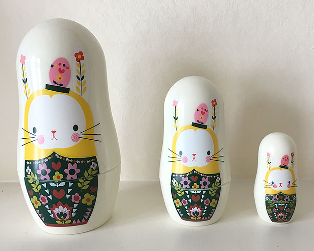 Paperchase Easter Bunny nesting dolls