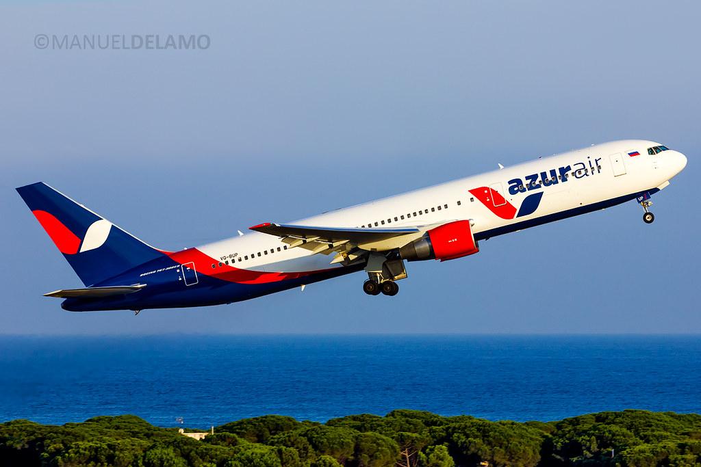 Vq bup azur air boeing 767 33a er barcelona bcn le for Air azur carrelage