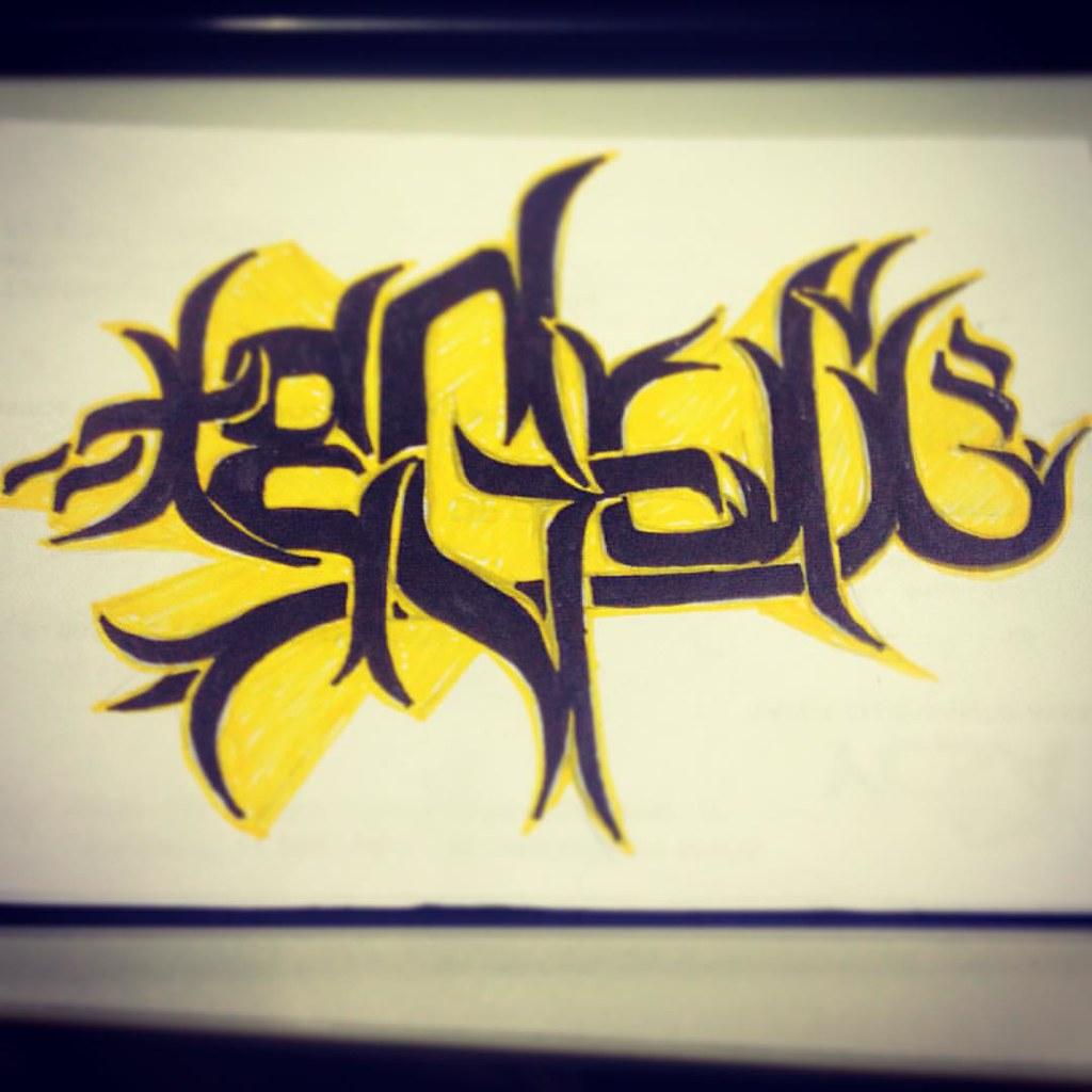 Estudo Tipografia TeGui Study Graffiti Tipo Type