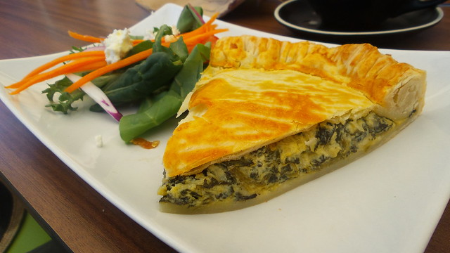 Spinach & feta tart