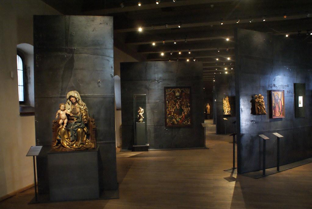Intérieur du musée gothique au couvent Saint Agnès de Prague.