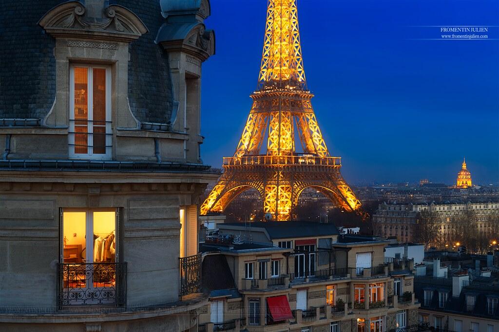 Tour Eiffel Hôtel des Invalides, Paris
