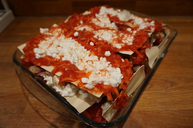 Vegetarisk lasagne alá vad som finns i kylskåpet - 4