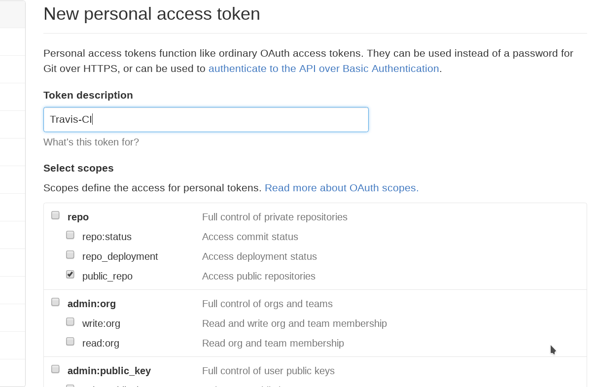 Generate GitHub Personal access tokens