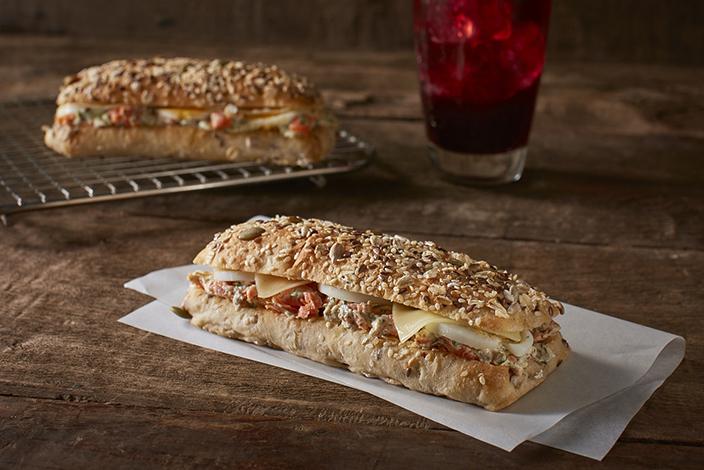 Salmon Dill on Multigrain Bread