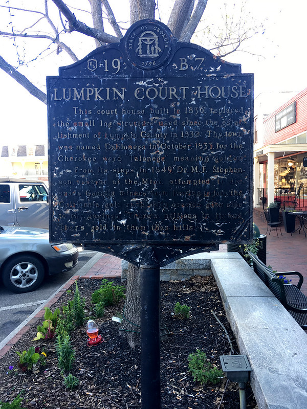 Lumpkin County Courthouse Historical Marker