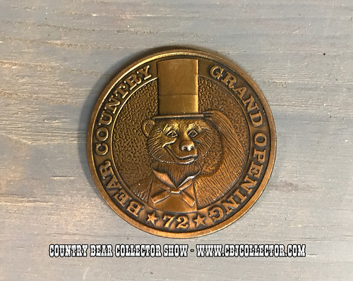 1972 Disneyland Bear Country Opening Day Commemorative Coin - Country Bear Jamboree Collector Show #80
