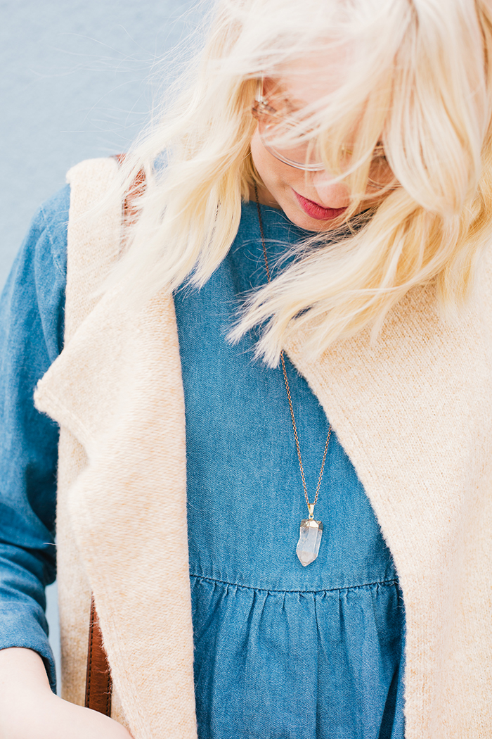 how to wear a denim dress6