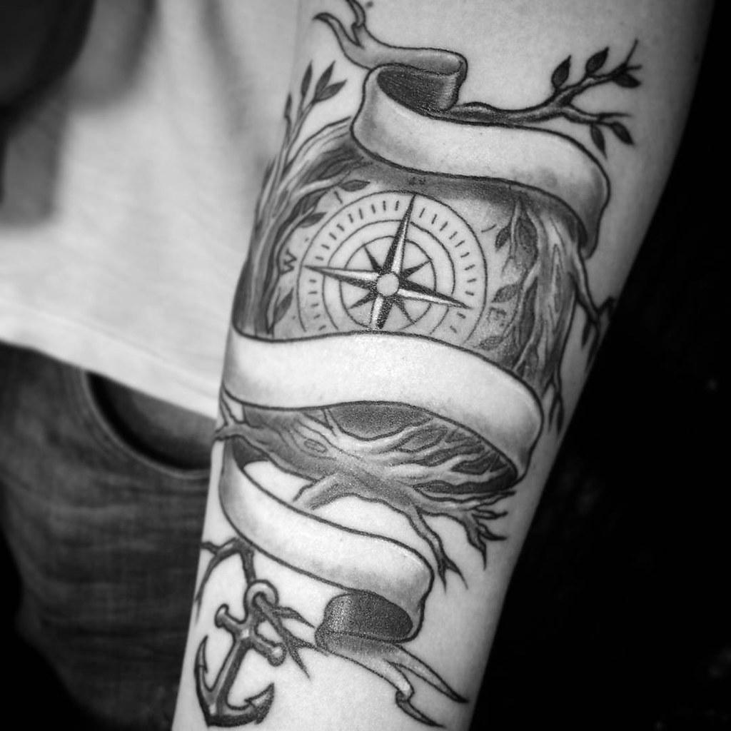 Tatuagem relogio antigo tattoo art for Tatoo bussola