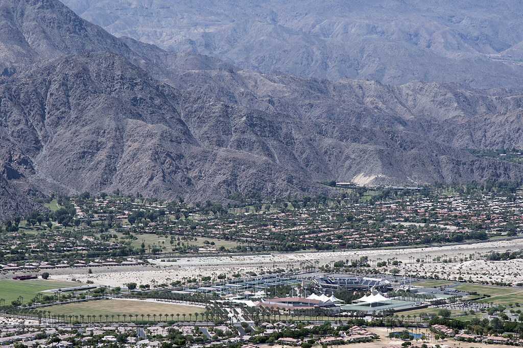 aerial view of indian wells tennis garden indian wells coachella valley california - Indian Wells Tennis Garden