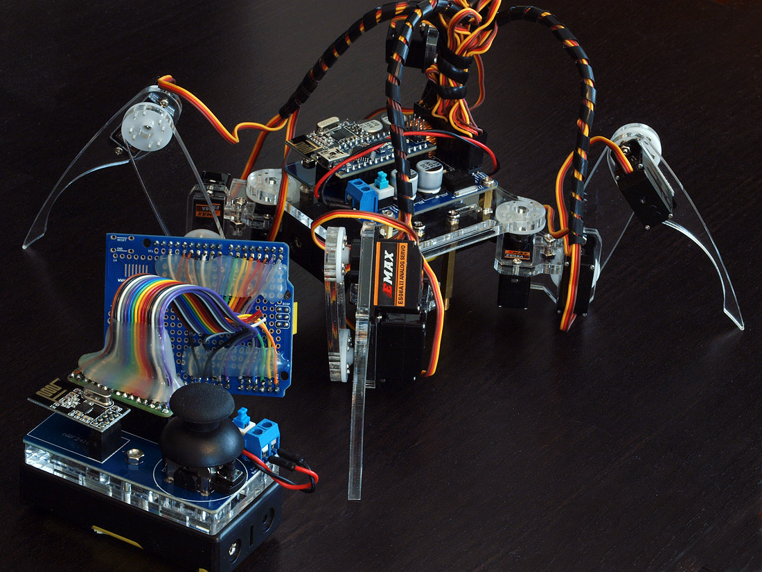 An arduino quadruped spider kit and my own hack page