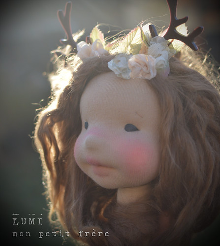 "Lumi- 16"" fully articulated natural fiber art doll"