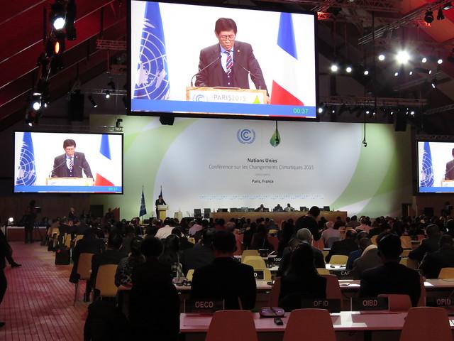 12月7日開啟的高階部長級協商會議,圖為蒙古國代表發表談話。攝影:潘紀揚。