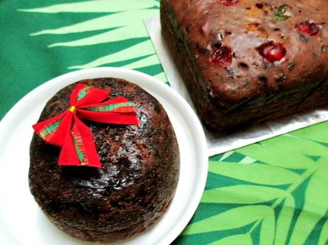 Christmas fruit pudding