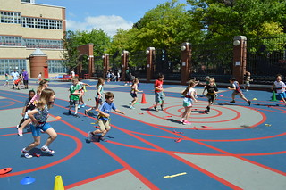 CAMP - P.E. Class in Yard