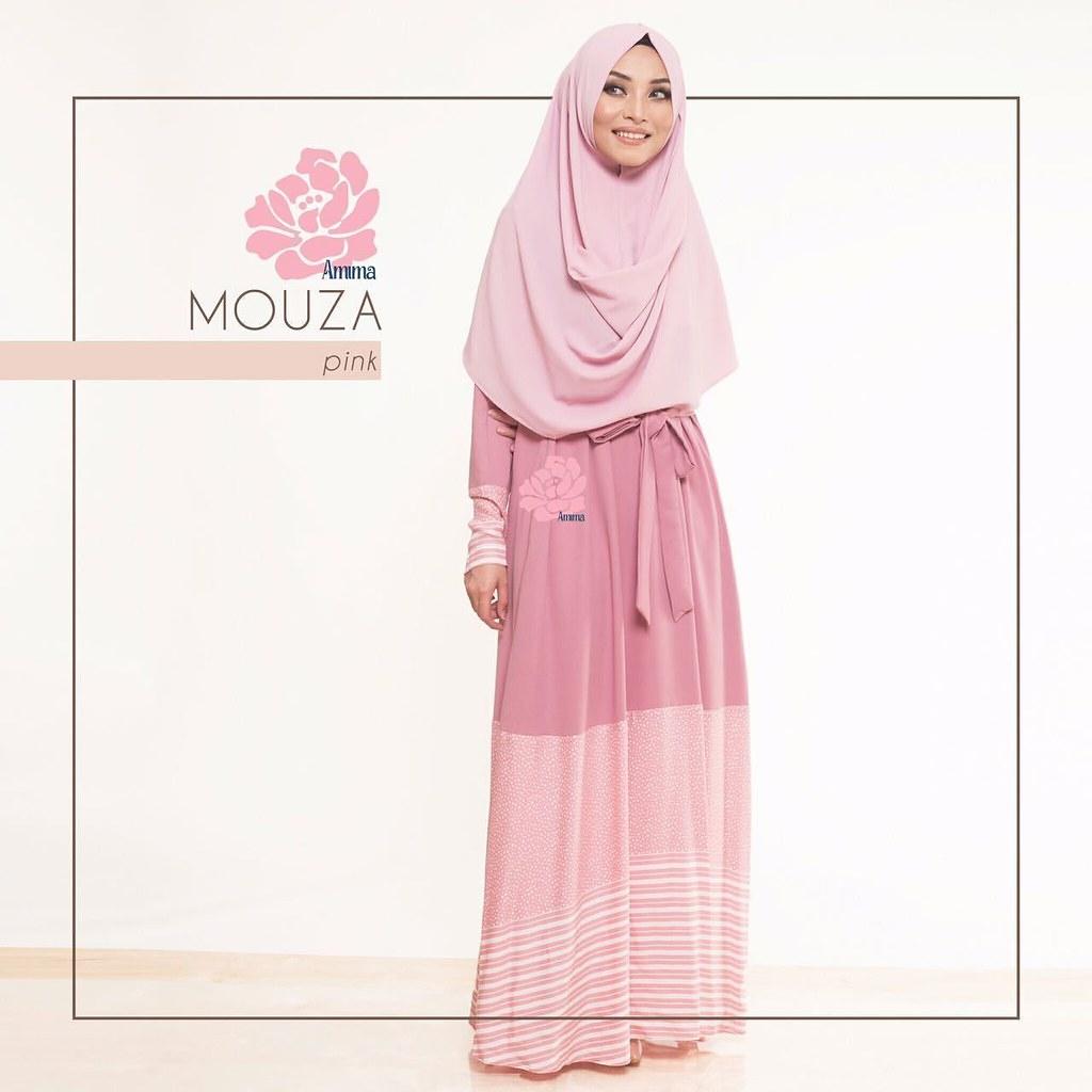 Gamis Amima Mouza Dress Pink Baju Muslim Wanita Mus Flickr Syari Muslimah Untukmu Yg Cantik