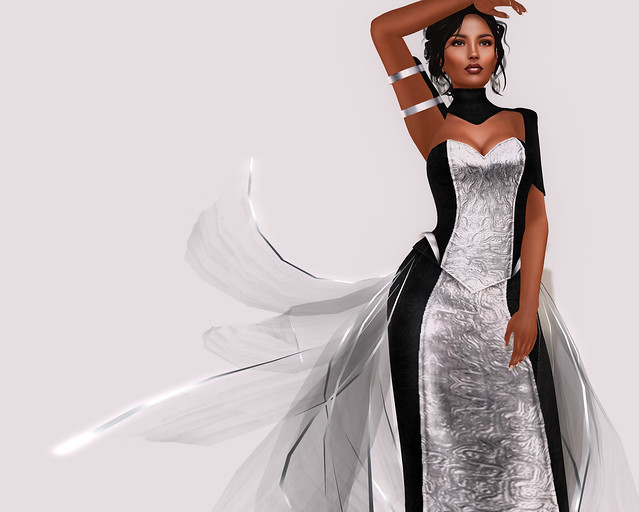 Viveca gown, silver, Azul+ Truth VIP gift