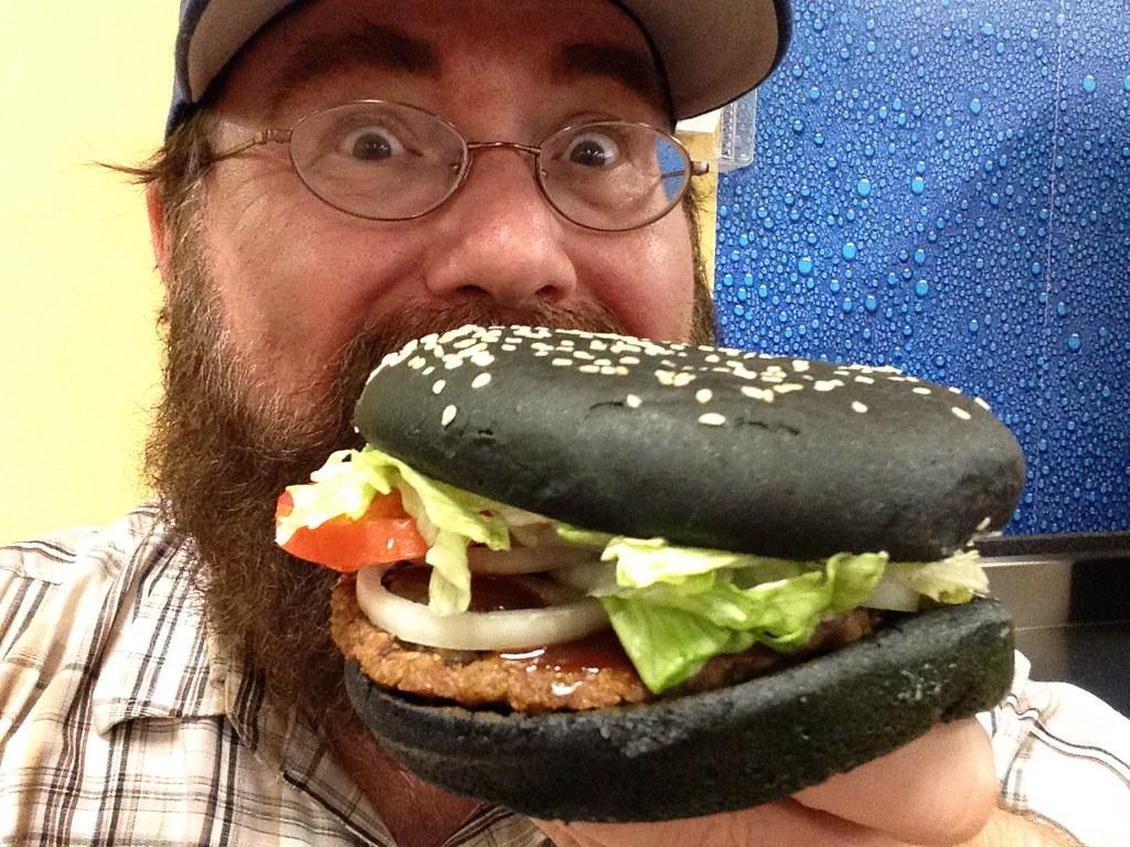 Burger King Halloween Whopper, Black Buns, A-1 Sauce, 9/20… | Flickr