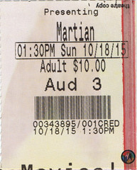 The Martian ticketstub