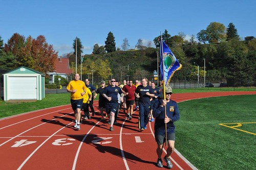 Afloat Training Group PACNW Run for Navy Birthday